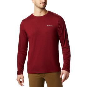 Columbia Miller Valley Camiseta Manga Larga Hombre, red jasper/dark mountain